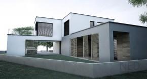 Montovane domy s rovnou strechou