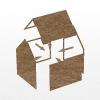 Ilustrácia spôsobu montovanej drevostavby, nízkoenergetické domy.