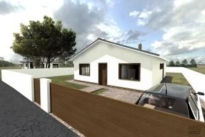 projekt domu bungalov